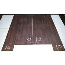 Macassar Ebony Back and Side Set 10