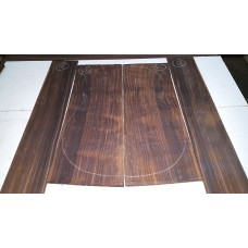 Macassar Ebony Back and Side Set 12