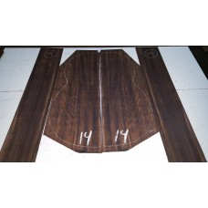 Macassar Ebony Back and Side Set 14