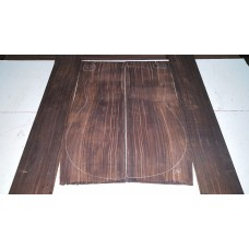 Macassar Ebony Back and Side Set 20