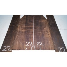 Macassar Ebony Back and Side Set 22