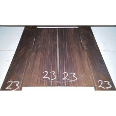 Macassar Ebony Back and Side Set 23