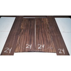 Macassar Ebony Back and Side Set 24