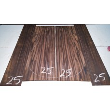 Macassar Ebony Back and Side Set 25