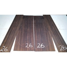 Macassar Ebony Back and Side Set 26