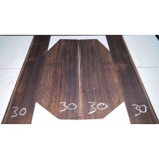 Macassar Ebony Back and Side Set 30