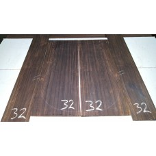 Macassar Ebony Back and Side Set 32