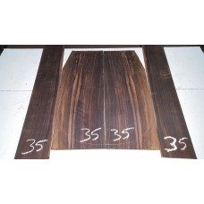 Macassar Ebony Back and Side Set 35