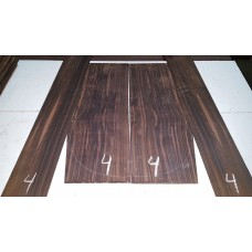 Macassar Ebony Back and Side Set 4