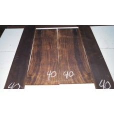 Macassar Ebony Back and Side Set 40