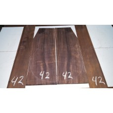 Macassar Ebony Back and Side Set 42
