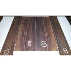 Macassar Ebony Back and Side Set 8